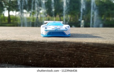 Kediri, Indonesia - June 30, 2018 : Hotwheels diecast model car. Hotwheels diecast made in Malaysia. This is 2016 Ford GT Race diecast car.
