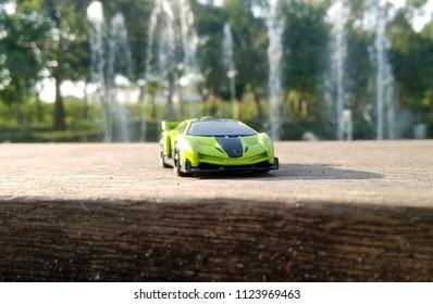 Kediri, Indonesia - June 30, 2018 : Hotwheels diecast model car. Hotwheels diecast made in Malaysia. This is Lamborghini Veneno diecast car.