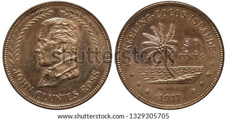KeelingCocos Islands coin 50