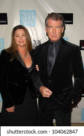 Keely Shaye Smith and Pierce Brosnan at the Peace Over Violence 38th Annual Humanitarian Awards, Beverly Hills Hotel, Beverly Hills, CA. 11-06-09