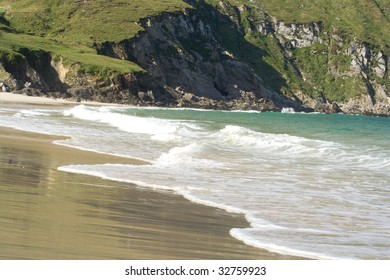 Keem beach is a well known beauty spot on the west coast of Ireland