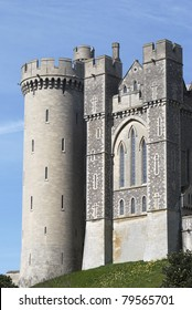 The Keep at Arundel Castle. West Sussex. England