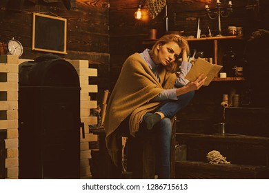 Keep calm and read a book. Student get knowledge from book. Pretty woman read a book. Knowledge and reading comprehension are keys to literacy. Woman student enjoy reading literacy.