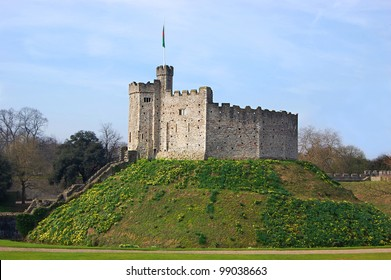 The keep of Cardiff Castle, in Wales