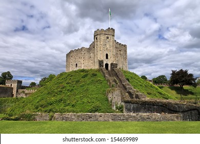 The keep of Cardiff Castle in Wales, United Kingdom (UK)