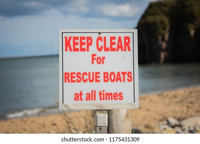Keep Clear For Rescue Boat Sign
