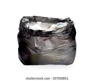 Keep garbage in bag for eliminate isolated on the white background. This has clipping path.