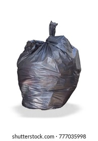 Keep garbage in bag for eliminate isolated on white background.  (clipping path)