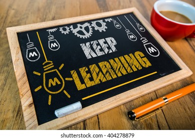 Keep Learning concept