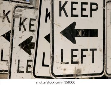 Keep left. Liberal metaphor.