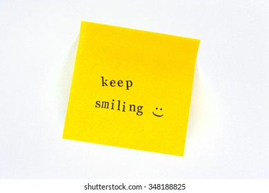 Keep Smiling Post it