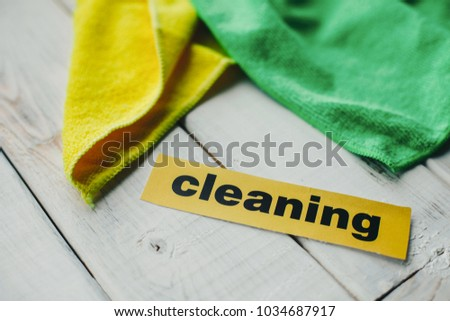 f97f7aeba Keep your house clean and healthy with a fluffy yellow and green cotton  mop. Contrast