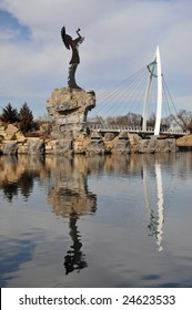 Keeper of the plains in Wichita Kansas