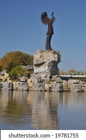 the keeper of the plains in Wichita Kansas, USA