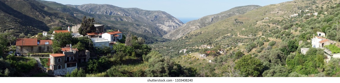 Kefali village on the Crete island, Greece