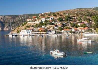 KEFALONIA, GREECE - JULY 23, 2009: Assos village, Kefalonia island, Greece