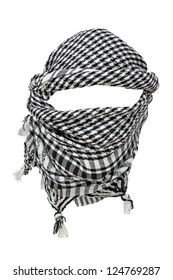 Keffiyeh - traditional Arabic headgear isolated on white background