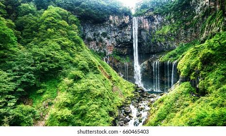 Kegon waterfall in summer, Nikko, Tochigi, Japan