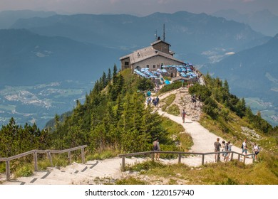 Kehlsteinhaus, Germany - August 06 2018: Eagle's Nest above the Obersalzberg. The house was a gift for Adolf Hitler.