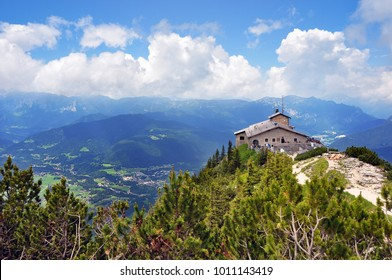 Kehlsteinhaus, Germany - June 28 2015: Eagle's Nest above the Obersalzberg. The house was used exclusively by members of the Nazi Party for government and social meetings during second world war and H
