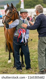 KEITH, MORAY, SCOTLAND – 12 AUGUST 2018:- This is one of the Horse Championship competitors at the Keith Country Show, Moray, Scotland on 12 August 2018.
