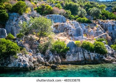 Kekova Island, Antalya province, TURKEY