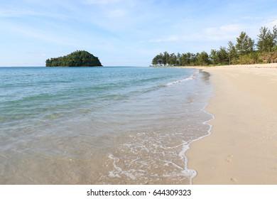 Kelambu beach near tip of borneo malaysia