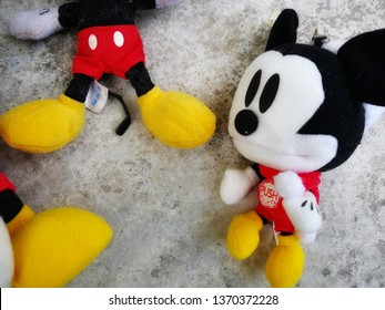 Kelantan,  Malaysia-March 28, 2019: mickey mouse action figure from Disney character. This character from mickey mouse and friend animation series.