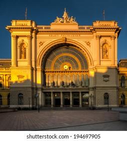 Keleti (East) railway station in Budapest, Hungary