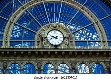 Keleti railway station in Budapest, Hungary, Europe