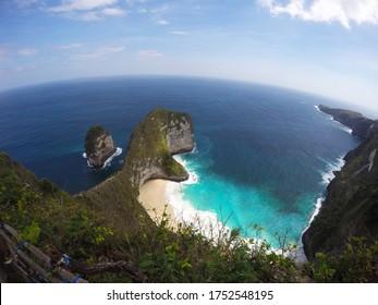 Kelingking Beach at Nusa Penida, Bali