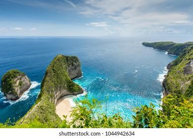 Kelingking Beach on Nusa Penida Island, Bali, Indonesia, Manta Bay