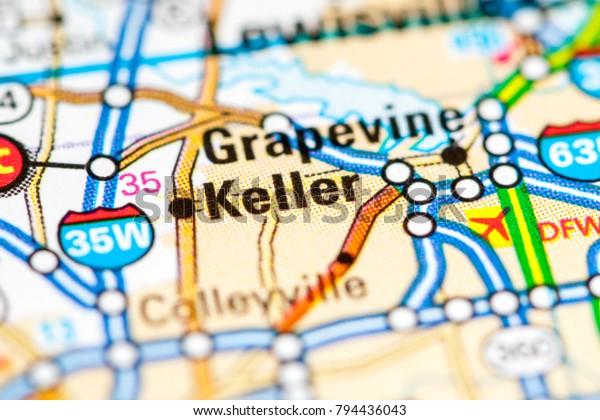 Keller Texas Usa On Map Miscellaneous Stock Image