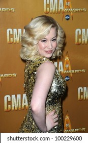 Kellie Pickler at the 44th Annual CMA Awards, Bridgestone Arena, Nashville, TN.  11-10-10