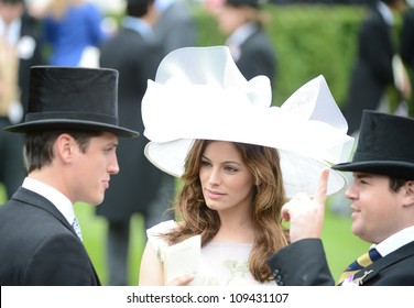 Kelly Brook attends the final day of the annual Royal Ascot horse racing event, Ascot, UK. June 23, 2012. Picture: Catchlight Media / Featureflash