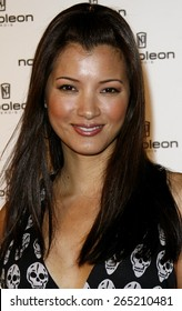 Kelly Hu attends the Napoleon Perdis Hollywood Store Unveiling held at the Napoleon Perdis in Hollywood, California on May 1, 2007.