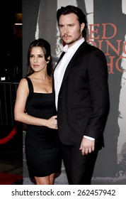 Kelly Monaco and Heath Freeman at the Los Angeles premiere of 'Red Riding Hood' held at the Grauman's Chinese Theatre in Hollywood, USA. March 7, 2011.