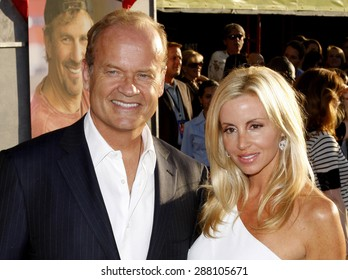 Kelsey Grammer and Camille Grammer at the Los Angeles premiere of 'Swing Vote' held at the El Capitan Theater in Hollywood on July 24, 2008.