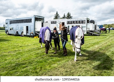 Kelso, Scottish Borders, UK. 9th May 2019. Floors Castle International Horse Trials 2019. Floors was built in 1721 by architect William Adam, and is now the largest inhabited castle in Scotland.