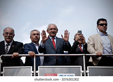 Kemal Kilicdaroglu, leader of Turkey's main opposition Republican People's Party (CHP), speaks during an election rally in Istanbul, Turkey on June 6, 2015