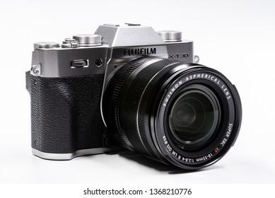Kemaman, Terengganu/Malaysia - April 13 2019 - New Fujifilm Camera X-T30