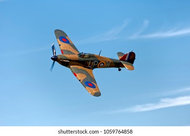 Kemble, Gloucestershire, UK - June 20, 2010: A Hawker Hurricane Mk1