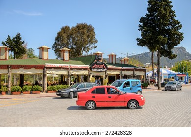KEMER, TURKEY - APR 16, 2015: Modern architecture in Kemer, Turkey. Kemer a seaside resort on the Mediterranean coast of Turkey, Antalya Province