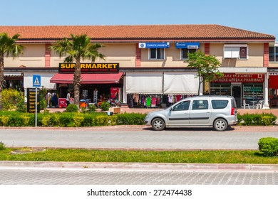 KEMER, TURKEY - APR 16, 2015: Architecture in Kemer, Turkey. Kemer a seaside resort on the Mediterranean coast of Turkey, Antalya Province