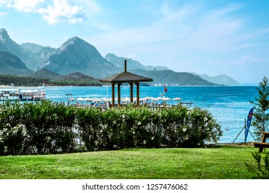 Kemer. Turkey.7 June 2018.Views of the coast and beach in Kemer .