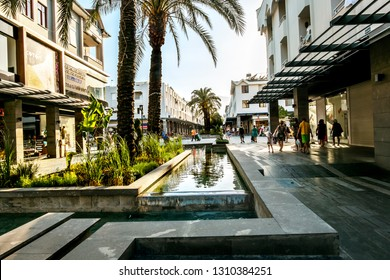 Kemer. Turkey.9 June 2018.View of the shopping tourist street in Kemer in Turkey.