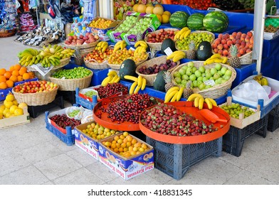KEMER,TURKEY - JUNE 23,2012:Fruit market in Kemer