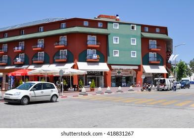 KEMER,TURKEY - JUNE 23,2012:the hotel in Kemer.Turkey
