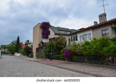 KEMER/TURKEY - MAY 7 2017: Streets and buildings of Kemer resort town in Turkey. Asia Minor