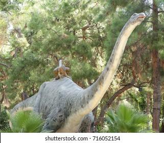 Kemer;Turkey-August 14; 2017: Apatosaurus-Jurassic period /140 million years ago. In the Dinopark